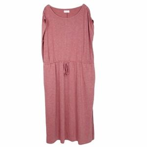 Maurices 24/7 mauve maxi dress with drawstring